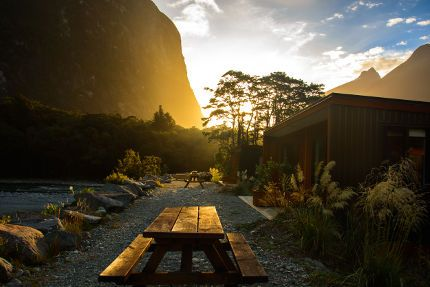 Milford Lodge Mountain View Chalets at Sunset