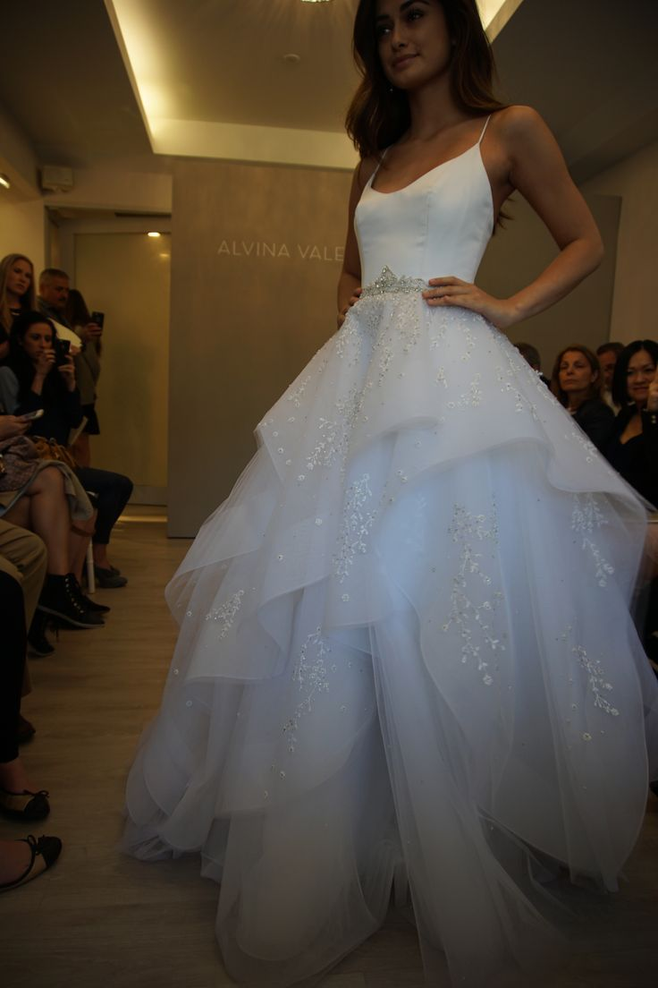 Ball gown by Alvina Valenta Style 9650 at NYBFW