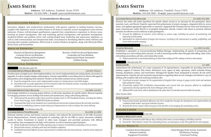 Sample Civilian and Federal Resumes - Resume Valley