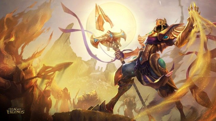Azir the Emperor of the Sands League of Legends HD Splash Wallpaper 1920×1080