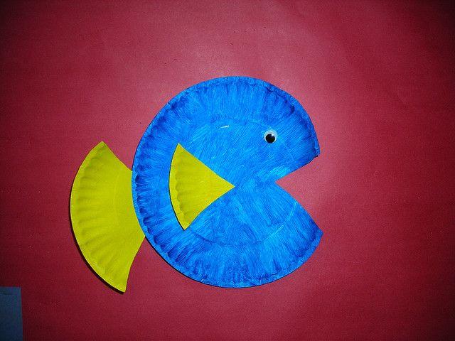 Paper plate fish fbc children pinterest for Paper plate fish