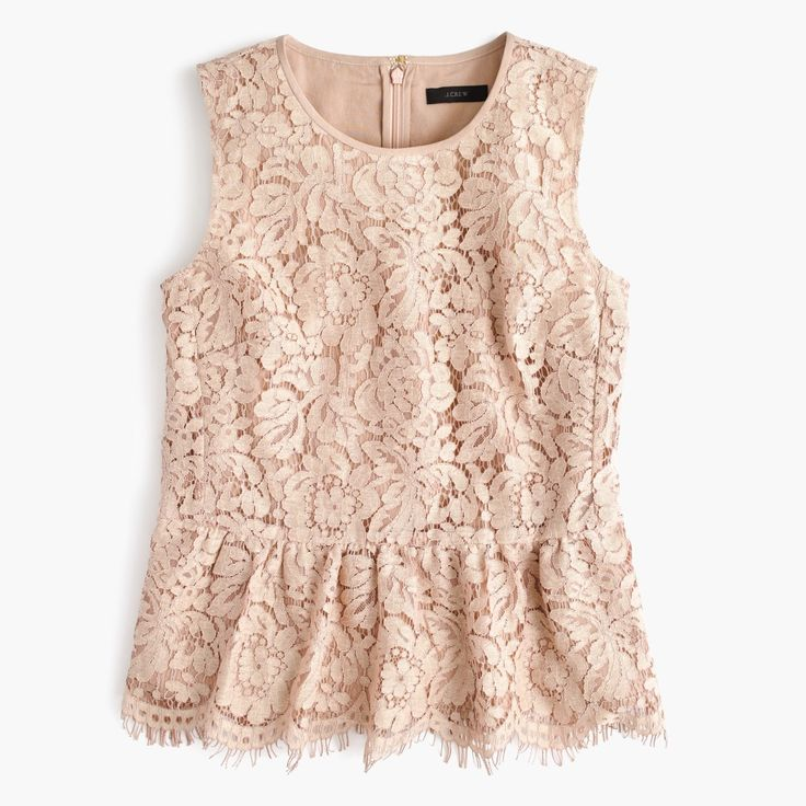 J.Crew Gift Guide: women's lace peplum top.