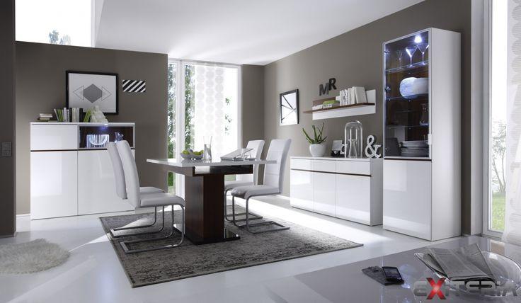 Luxusná zostava Cordelia v lesku pre moderné jedálne Cordelia furniture - dining room