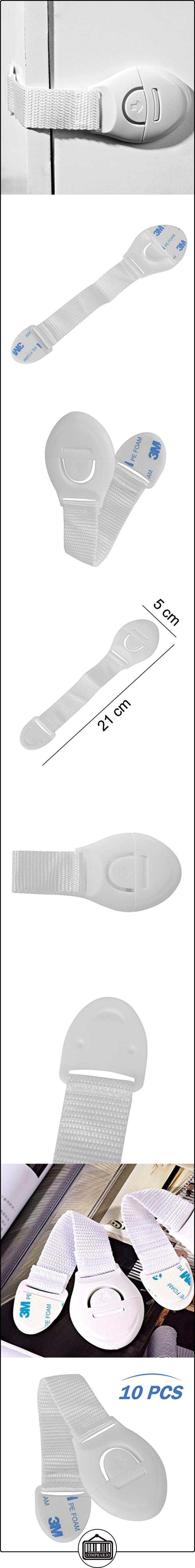 magiin bebé Cerraduras de Seguridad Correas para armario frigorífico cajón para inodoro sin necesidad de agujeros juego de 10  ✿ Seguridad para tu bebé - (Protege a tus hijos) ✿ ▬► Ver oferta: http://comprar.io/goto/B01LENP4LG