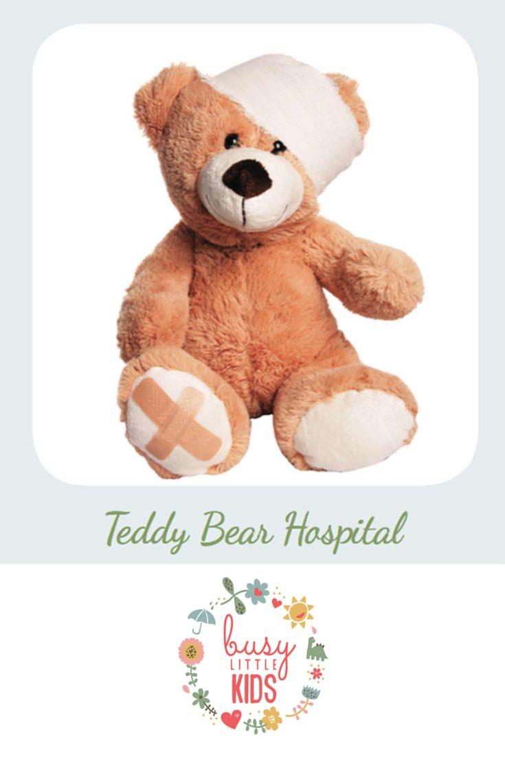 Fun, simple, easy rainy day kids activity - Teddy Bear Hospital