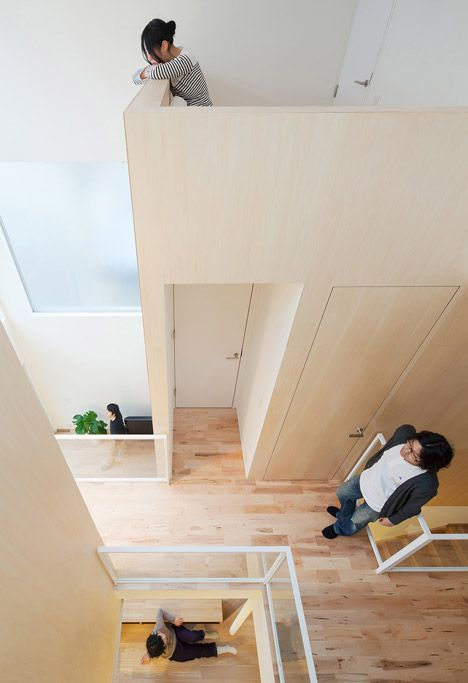 Staircases And Ramps Inside The Bedrooms Lead To Mezzanine Lofts At The Top  Of The House