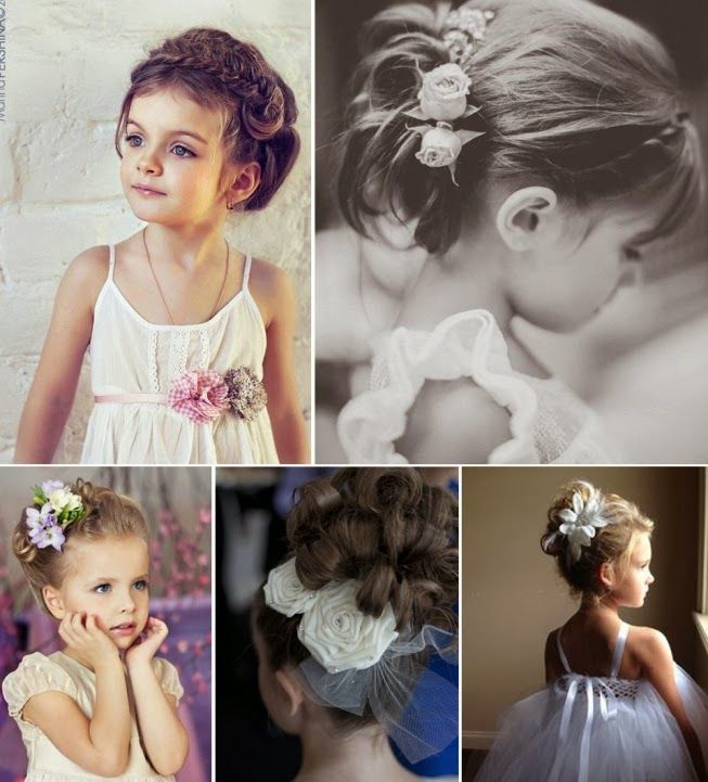 Super 34 best Penteados crianças images on Pinterest | Flower girls  NK89