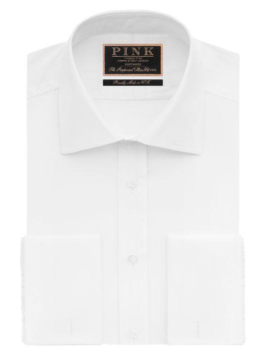 Edwin Plain Slim Fit Double Cuff Shirt