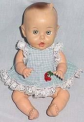 Ar's favorite doll.  It was made in 1956 in Michigan by Gerber.  It is currently and constantly nude.