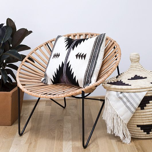 the citizenry mexico collection chair, pillow, blanket and woven basket / sfgirlbybay