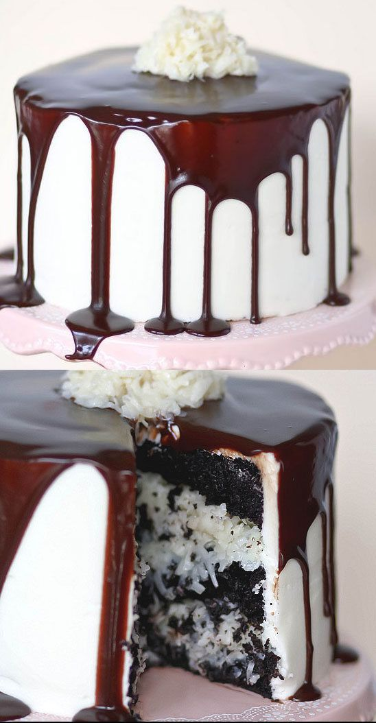 Mounds Layer Cake - perfect birthday cake for a coconut lover!!  ~ we ❤ this! moncheriprom.com