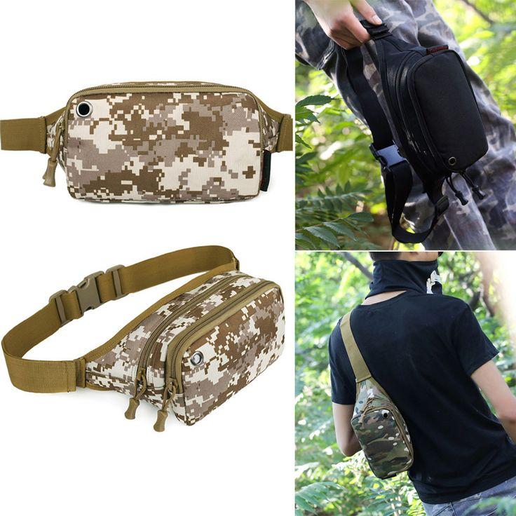 Outdoor Climbing Molle Camo Military Tactical Rucksacks Trekking Waist Bag Men Women Sports Camping Hiking Durable Gym Bags