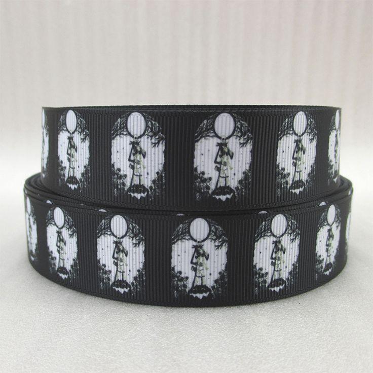 10Y43879 1  ( 25 мм ) хэллоуин лента высокое качество напечатаны полиэстер лента 10 ярды, Поделок материалы ручной работы, Свадьба подарочная упаковка