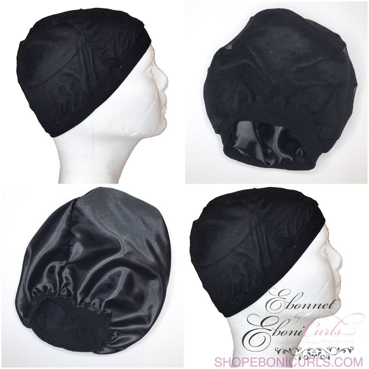 Wig Cap Satin Lined - Black by EboniCurls on Etsy https://www.etsy.com/listing/512750630/wig-cap-satin-lined-black