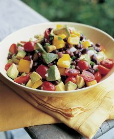 Avocado Salad - One of favorites and super easy to take along for picnics or summer pot lucks.  I like grape tomatoes, red onion, and baby mozzarella balls in mine along with the avocado and corn.  #salad #avocado #stowemeadows