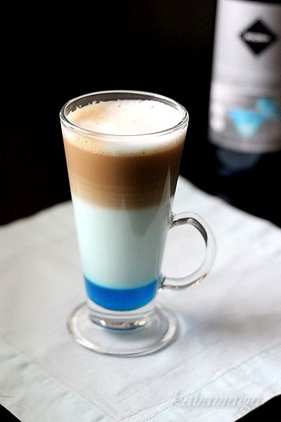Blue coffee with orange taste