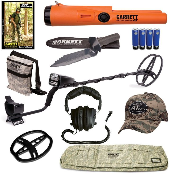 Garrett AT Pro Metal Detector Special with Pro Pointer AT PinPointer, Bag, Pouch, Hat, Cover and Digging Knife