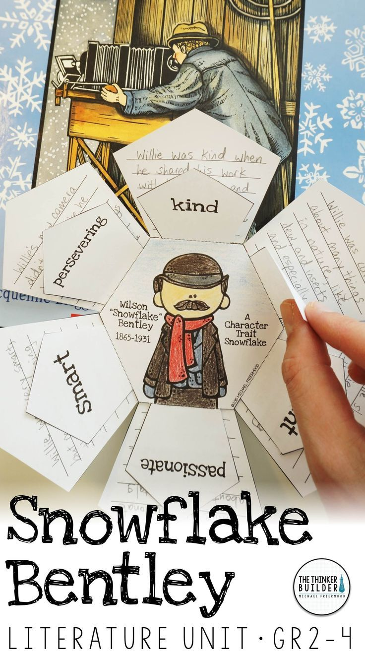 An engaging literature unit for the picture book, Snowflake Bentley, by Jacqueline Briggs Martin, with background PowerPoint, story work, vocabulary, and writing extensions. (Gr.2-4) $