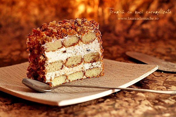 Tiramis cu nuci caramelizate - retete culinare prajituri. Ingrediente si mod de preparareTiramisù cu nuci caramelizate. Reteta tiramisù desert italian.
