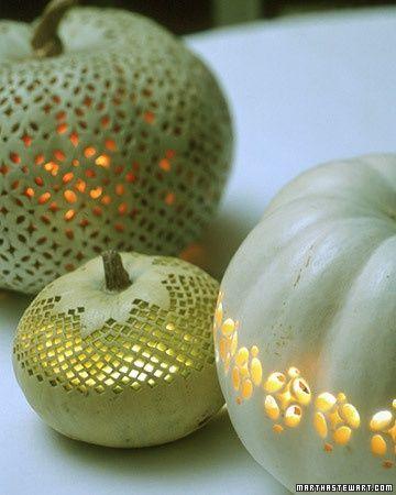 Beautiful Lace Pumpkins