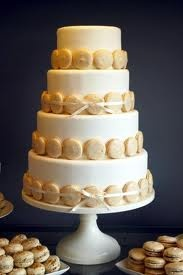 macaroon wedding cake - Google Search