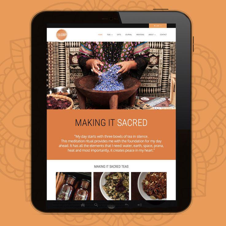 teacoup 'making it sacred' online shop website