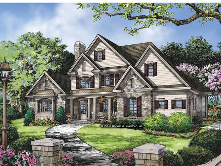 Traditional Style 2 story 4 bedrooms(s) House Plan with 3138 total square feet and 3 Full Bathroom(s) from Dream Home Source House Plans