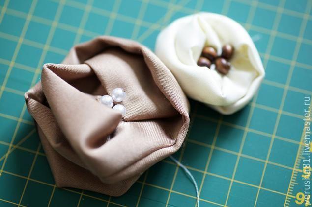 Вторая жизнь шторных обрезков - делаем цветы - Ярмарка Мастеров - ручная работа, handmade