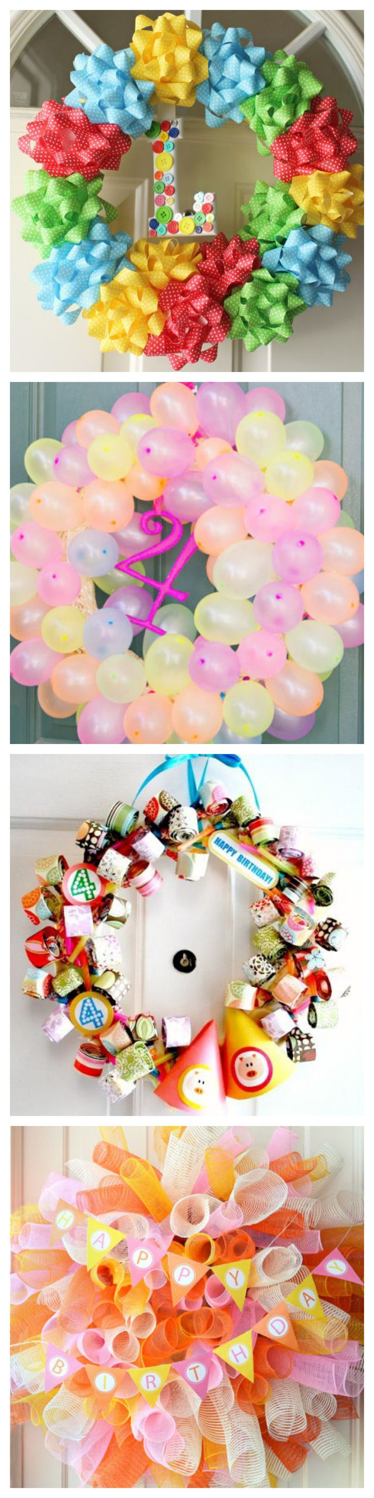 Homemade Birthday Party Wreaths #DIY #partyideas