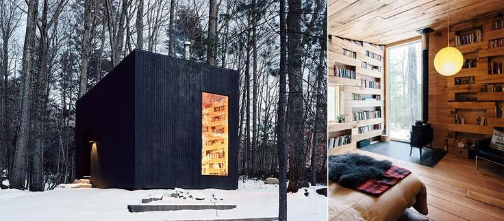 Studio Padron Architects created a tiny black one-room cabin in the woods, designed to be a small library and a guest house. Check it out here.