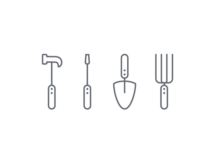 The Handyman's Tools Icon Set Design