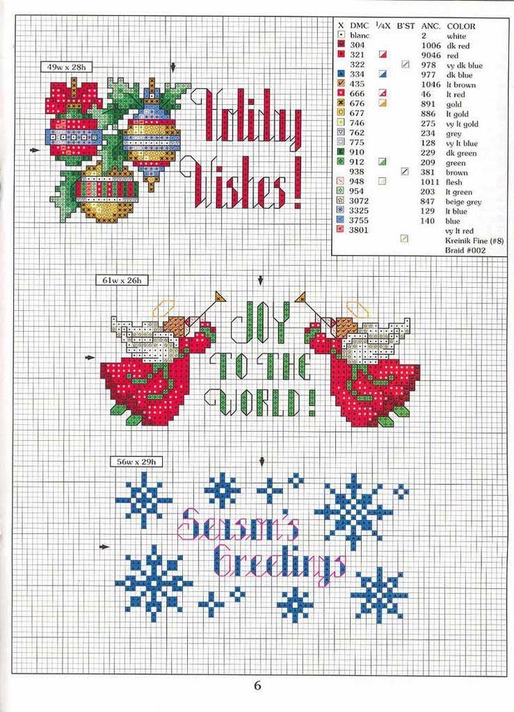 Muchos diseños navideños que puedes bordar para el árbol, manteles, juegos de mesa, servilletas, cojines, cuadritos...¡¡¡Un sinfín ...