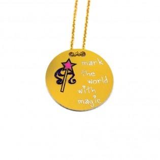 Magic #tarz #designer #necklace #original #magicwand #magic #wand #interesting #tasarım #moda #tasarımcı #design #style #fashion #mark #the #world #with #magic #yellow #stylish #chic