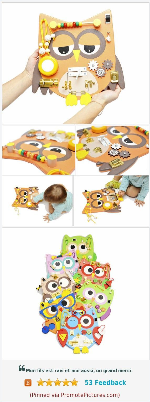 All our Owl busy boards have different sets of developing elements, you can choose the right one for your child. We have many new ideas that we gradually embody and present to you, further interesting. Thank you for being with us! Christmas gift for toddler boy Toddler learning gift Baby gift Busy baby toy Travel busy Sensory board Montessori materials Owl wooden toy https://www.etsy.com/WoodenToysStore/listing/571149007/christmas-gift-for-toddler-boy-toddler?ref=shop_home_active_5  (Pinned