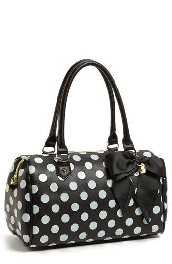 Betsey Johnson Polka Dot Satchel available at #Nordstrom DO YO LIKE THIS AMANDA?