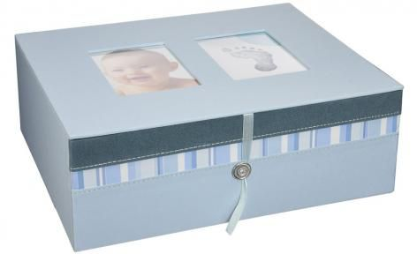 Blue Babyprints Keepsake Box by Pearhead