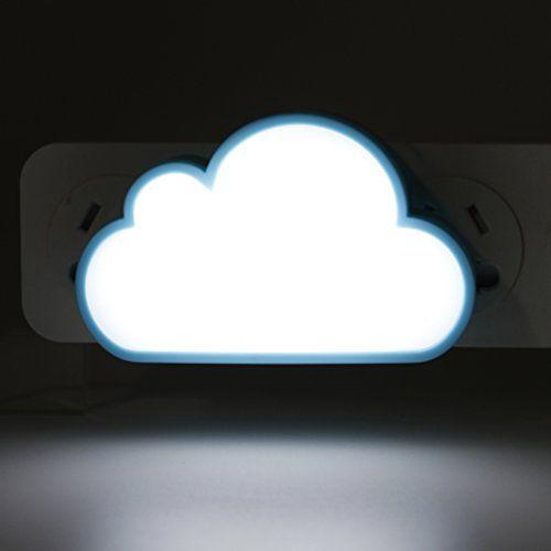 YJY Light Sensor Night Light  Intelligent LED Wall Lamp Plug in for Baby Nursery Child 110V 120V 220V  Cloud White http://ift.tt/2kdeG0v