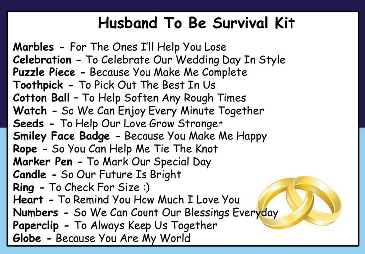 Husband To Be Survival Kit In A Can. Humorous Novelty Gift - Groom To Be Wedding Day Present & Card All In One. Gifts For Him/Gifts For Men. Customise Your Can Colour. (Blue/Navy): Amazon.co.uk: Kitchen & Home