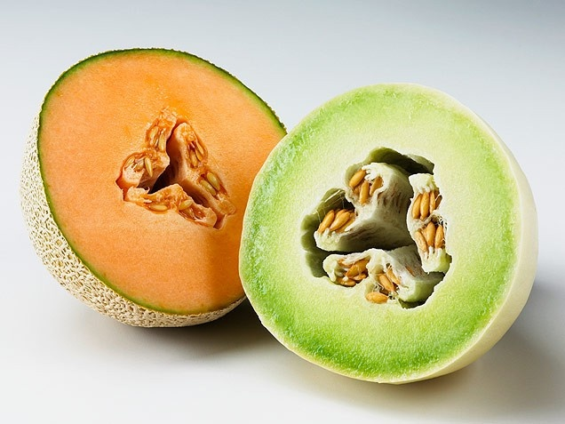 Melons ... Antioxidant rich melon fruits may help promote weight loss. Melons are very rich in vitamin C, which studies have shown helps to prevent stress hormones cortisol and adrenaline from peaking. Since stress hormones store more fat, especially in the abdomen, eating foods rich in vitamin C may help to shed unhealthy visceral (belly) fat.  And, if you like watermelon, eat up! It may help you reduce your body fat faster, due to the amino acid, arginine.