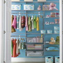 Kid's Reach-In Closet by Elfa.