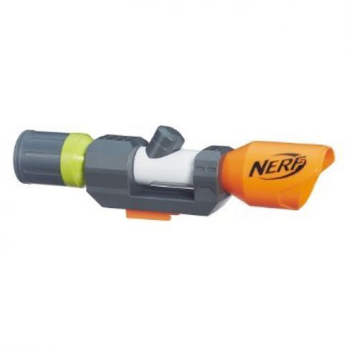 Nerf Modulus Distance Scope Upgrade Product Features - Customize your Nerf Modulus blaster (sold separately) - Part of the Nerf Modulus system - Distance scope attaches to tactical rails - Ignite the