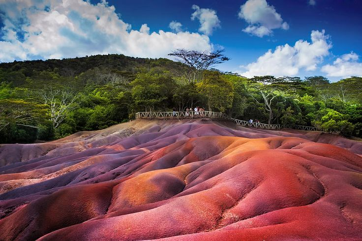 Seven Colored Earth In Chamarel. Mauritius by Jenny Rainbow