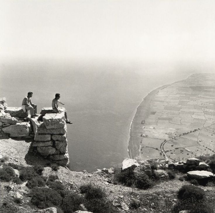 by Robert A. McCabe. View to Perissa, Thera (Santorini), Greece, 1961
