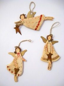 Wooden angels