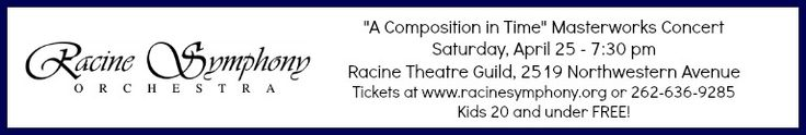 "Racine Symphony Orchestra welcomes both the winner of their annual Young Artists Competition and selected Racine County high school string students as participants in our ""Side by Side Youth Invitational"" to their 2014-15 Season finale! Buy your tickets today! Kids 20 and under are #FREE! #KidFriendly #symphony #concert"