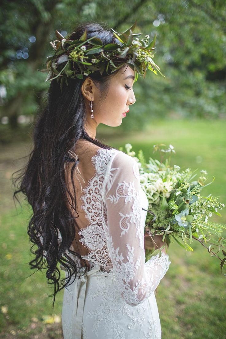 Long Hair Waves Bride Stle Feminine Bohemian Beautiful Bridal Ideas http://www.photographsbyeve.co.uk/