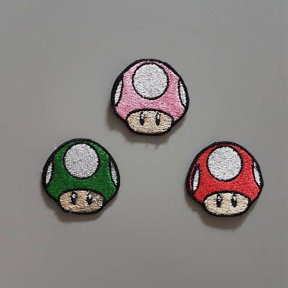 Mario champignon 1UP écusson thermocollant nintendo
