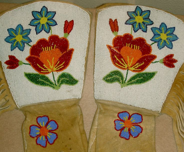 Crow Nation Beadwork | Idaho Historical Society - Beaded gloves