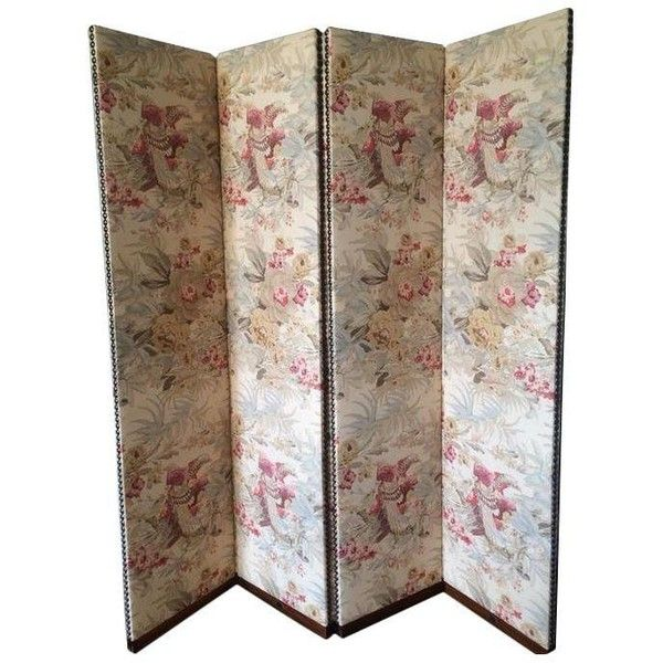 George Smith Floral Folding Screen ($1,600) ❤ liked on Polyvore featuring home, home decor, panel screens, room dividers, screens & room dividers, fabric room dividers, floral home decor, fabric screen, folding screen and fabric home decor