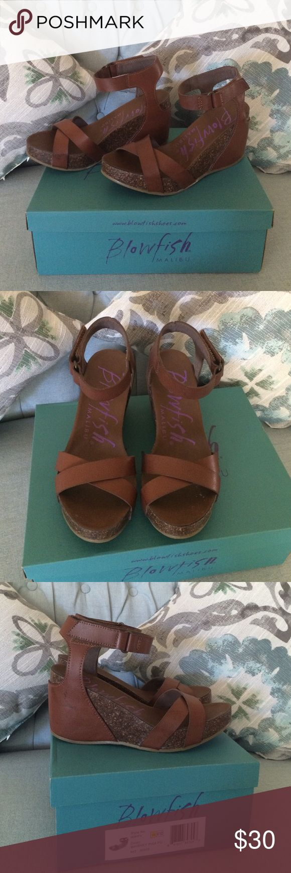 Beautiful & comfortable wedges! These are prefect for summer! So comfortable and so cute! These were worn a total of 3 times. They come in the box and are ready for a home that will love them more than I have. Blowfish Shoes Wedges